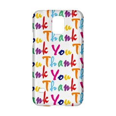 Wallpaper With The Words Thank You In Colorful Letters Samsung Galaxy S5 Hardshell Case  by Simbadda
