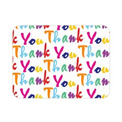 Wallpaper With The Words Thank You In Colorful Letters Double Sided Flano Blanket (mini)  by Simbadda