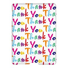 Wallpaper With The Words Thank You In Colorful Letters Samsung Galaxy Tab S (10 5 ) Hardshell Case  by Simbadda