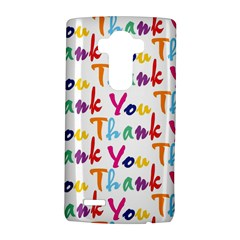 Wallpaper With The Words Thank You In Colorful Letters Lg G4 Hardshell Case by Simbadda