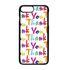 Wallpaper With The Words Thank You In Colorful Letters Apple Iphone 7 Plus Seamless Case (black) by Simbadda