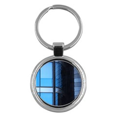 Modern Office Window Architecture Detail Key Chains (round)  by Simbadda