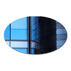 Modern Office Window Architecture Detail Oval Magnet by Simbadda
