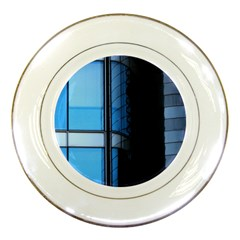 Modern Office Window Architecture Detail Porcelain Plates by Simbadda
