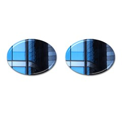 Modern Office Window Architecture Detail Cufflinks (oval) by Simbadda