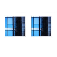 Modern Office Window Architecture Detail Cufflinks (square) by Simbadda