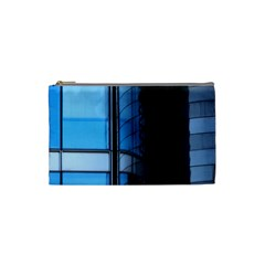 Modern Office Window Architecture Detail Cosmetic Bag (small)  by Simbadda