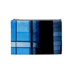 Modern Office Window Architecture Detail Cosmetic Bag (medium)  by Simbadda