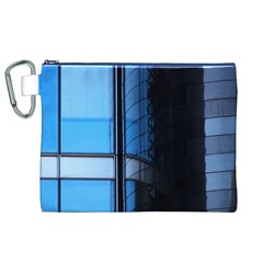 Modern Office Window Architecture Detail Canvas Cosmetic Bag (xl) by Simbadda