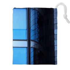 Modern Office Window Architecture Detail Drawstring Pouches (xxl) by Simbadda