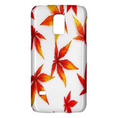 Colorful Autumn Leaves On White Background Galaxy S5 Mini by Simbadda