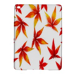 Colorful Autumn Leaves On White Background Ipad Air 2 Hardshell Cases by Simbadda