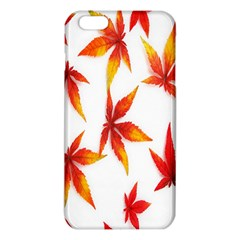 Colorful Autumn Leaves On White Background Iphone 6 Plus/6s Plus Tpu Case by Simbadda