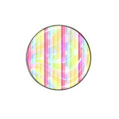Colorful Abstract Stripes Circles And Waves Wallpaper Background Hat Clip Ball Marker (4 Pack) by Simbadda