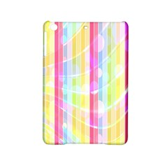 Colorful Abstract Stripes Circles And Waves Wallpaper Background Ipad Mini 2 Hardshell Cases by Simbadda