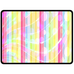 Colorful Abstract Stripes Circles And Waves Wallpaper Background Double Sided Fleece Blanket (large)  by Simbadda