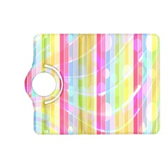 Colorful Abstract Stripes Circles And Waves Wallpaper Background Kindle Fire Hd (2013) Flip 360 Case by Simbadda
