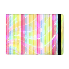 Colorful Abstract Stripes Circles And Waves Wallpaper Background Ipad Mini 2 Flip Cases by Simbadda