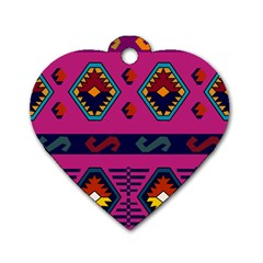 Abstract A Colorful Modern Illustration Dog Tag Heart (one Side) by Simbadda