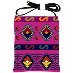 Abstract A Colorful Modern Illustration Shoulder Sling Bags by Simbadda