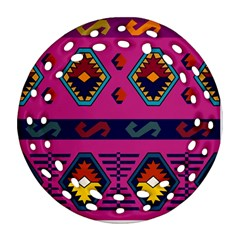 Abstract A Colorful Modern Illustration Round Filigree Ornament (two Sides) by Simbadda
