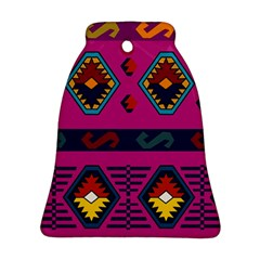 Abstract A Colorful Modern Illustration Bell Ornament (two Sides) by Simbadda