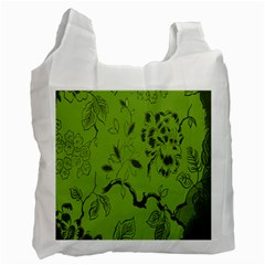 Abstract Green Background Natural Motive Recycle Bag (one Side) by Simbadda