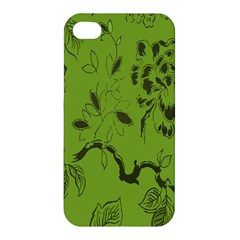 Abstract Green Background Natural Motive Apple Iphone 4/4s Hardshell Case by Simbadda