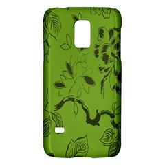 Abstract Green Background Natural Motive Galaxy S5 Mini by Simbadda