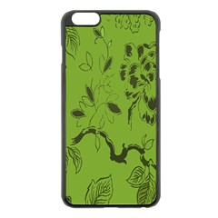 Abstract Green Background Natural Motive Apple Iphone 6 Plus/6s Plus Black Enamel Case by Simbadda