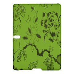 Abstract Green Background Natural Motive Samsung Galaxy Tab S (10 5 ) Hardshell Case  by Simbadda