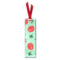 Floral Roses Wallpaper Red Pattern Background Seamless Illustration Small Book Marks by Simbadda