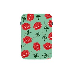 Floral Roses Wallpaper Red Pattern Background Seamless Illustration Apple Ipad Mini Protective Soft Cases by Simbadda