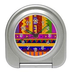 Abstract A Colorful Modern Illustration Travel Alarm Clocks by Simbadda