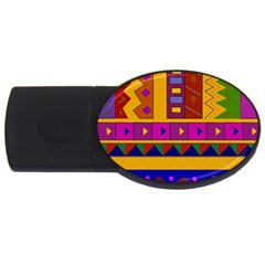 Abstract A Colorful Modern Illustration Usb Flash Drive Oval (4 Gb) by Simbadda