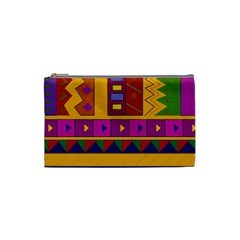 Abstract A Colorful Modern Illustration Cosmetic Bag (small)  by Simbadda