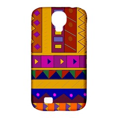 Abstract A Colorful Modern Illustration Samsung Galaxy S4 Classic Hardshell Case (pc+silicone) by Simbadda