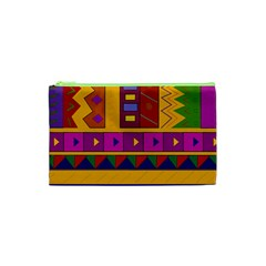 Abstract A Colorful Modern Illustration Cosmetic Bag (xs) by Simbadda