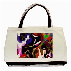 Colourful Abstract Background Design Basic Tote Bag by Simbadda