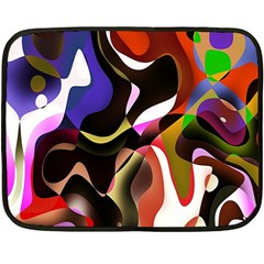Colourful Abstract Background Design Double Sided Fleece Blanket (mini)  by Simbadda