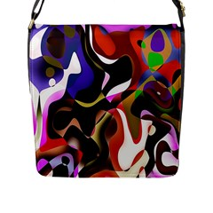 Colourful Abstract Background Design Flap Messenger Bag (l)  by Simbadda
