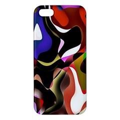 Colourful Abstract Background Design Iphone 5s/ Se Premium Hardshell Case by Simbadda