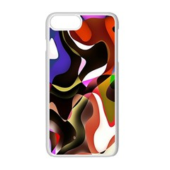 Colourful Abstract Background Design Apple Iphone 7 Plus White Seamless Case by Simbadda