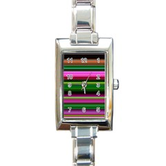 Multi Colored Stripes Background Wallpaper Rectangle Italian Charm Watch by Simbadda