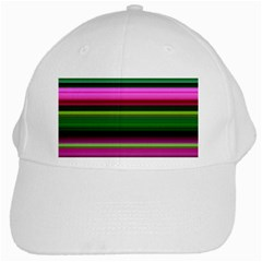 Multi Colored Stripes Background Wallpaper White Cap by Simbadda