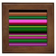 Multi Colored Stripes Background Wallpaper Framed Tiles by Simbadda