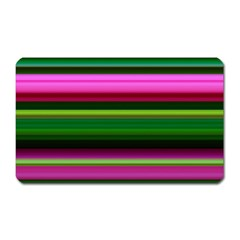 Multi Colored Stripes Background Wallpaper Magnet (rectangular) by Simbadda