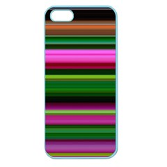 Multi Colored Stripes Background Wallpaper Apple Seamless Iphone 5 Case (color) by Simbadda