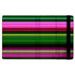 Multi Colored Stripes Background Wallpaper Apple Ipad 2 Flip Case by Simbadda