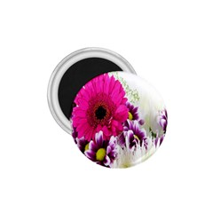 Pink Purple And White Flower Bouquet 1 75  Magnets by Simbadda